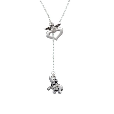 Elephant - Guardian Angel Lariat Necklace - Guardian Angel Necklace
