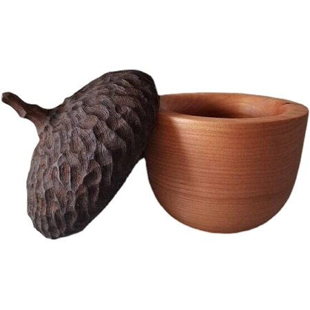 Vulaop Acorn jewelry boxes, souvenir jewelry boxes, bring good luck and health to the family, suitable for small tables, bookshelves or bedside tables