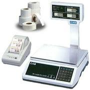 CAS JRS2000POLE30 NTEP Scale  30 x 0 005 lb w Column  Printer   Labels