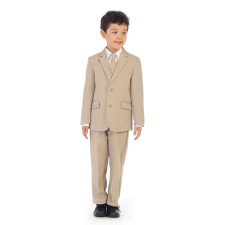 Angel Outfits For Kids (Angels Garment Boys Khaki Jacket Pants Vest Tie Shirt Handsome)