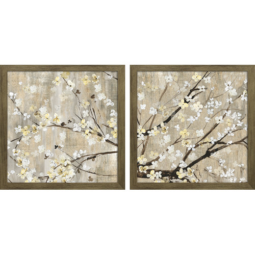 Star Creations ''Pearls in Bloom'' by Asia Jensen 2 Piece Framed Graphic Art Set