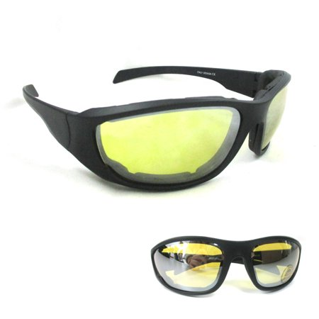 1 Wind Resistant Motorcycle Riding Sunglasses UV 400 Day Night  Foam Glasses