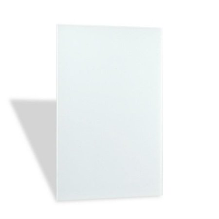 Ember Heating Panel Glass White Frameless 120 V (Best Quality Shower Doors)