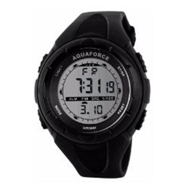 Aquaforce 25-002 Multi Function Digital Watch with 50m Water Resistant - Black Case & Strap - image 1 de 1