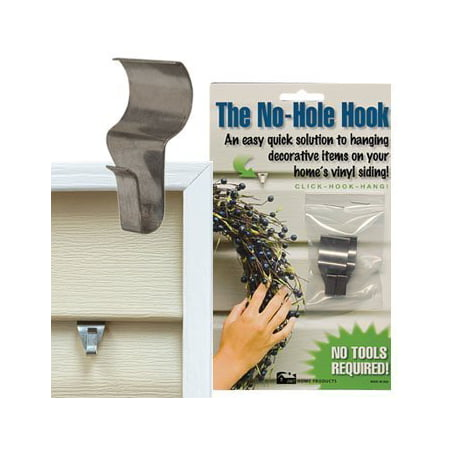 Low Profile No Hole Hook Quick Solution To Hang Decorative Item On Vinyl Siding