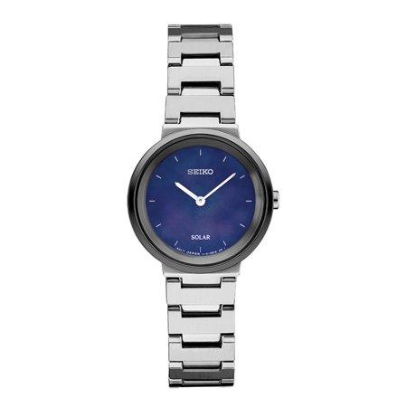 Seiko Ladies Diamond Coutura Silver Tone Watch (Women's 'LADIES' Quartz Stainless Steel Dress Watch, Color:Silver-Toned (Model: SUP385) )