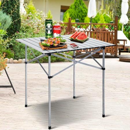 Moustache Camping Table, Portable Square Aluminum Folding Table , 70cmx70cm - image 3 of 6