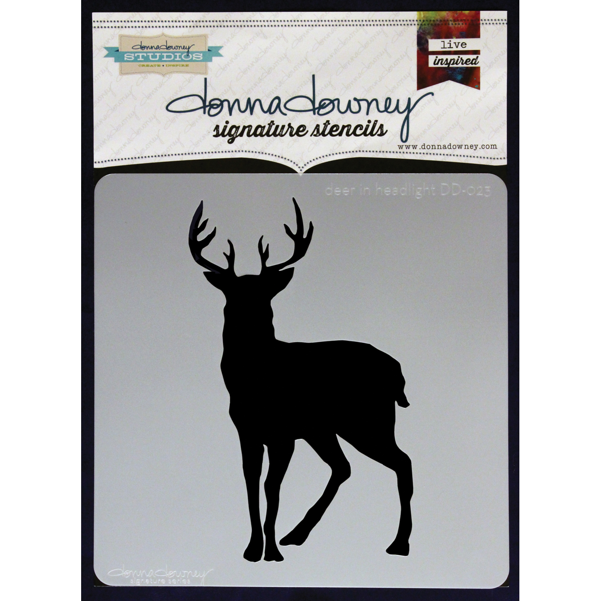 """Donna Downey Signature Stencils 8.5""""X8.5""""-Deer In Headlight - image 1 of 1"""