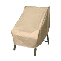 Modern Leisure Basics Outdoor Patio Chair Cover - Water Resistant (33 W X 34 D X 31 H Inches) Beige, Model 3134D