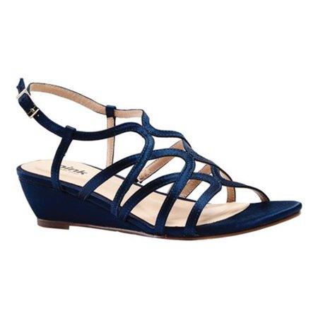 Women's Pink Paradox London Opulent Wedge Sandal Satin Wedge Sandal