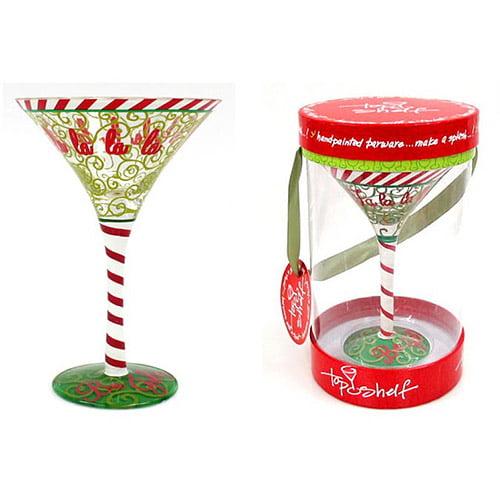 Top Shelf Fa La La La La Martini Glass
