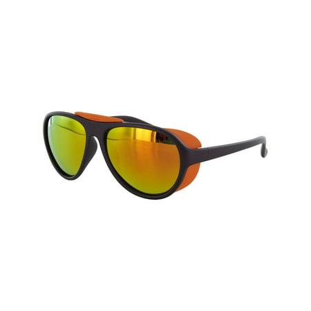 Unisex VE 7008 Oval Polarized Aviator Sunglasses, Dark (Dark Aviator Sunglasses)