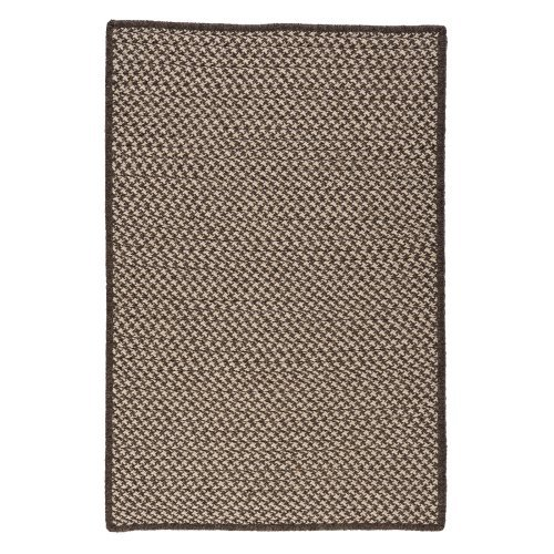 Colonial Mills HD36R Natural Wool Houndstooth Braided Rug - Espresso