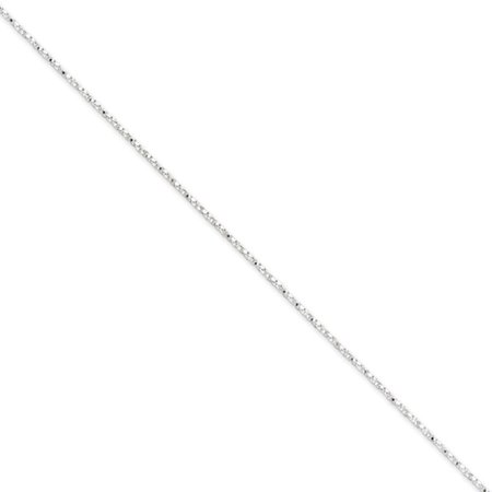 Sterling Silver 18in 1.25mm Twisted Box Necklace (Sterling Silver Twisted Box Chain)