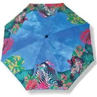 PMU Jungle Themed Beach Umbrella, 160 Gram (Zebra Printed)
