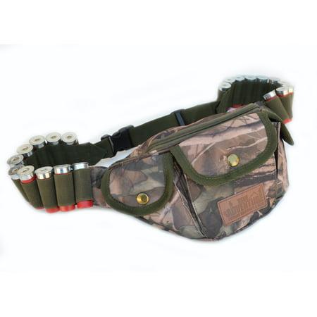 Hunting Shotgun Shell Carrier Gun Waist Belt Bag Real Camouflage REAL WOODS