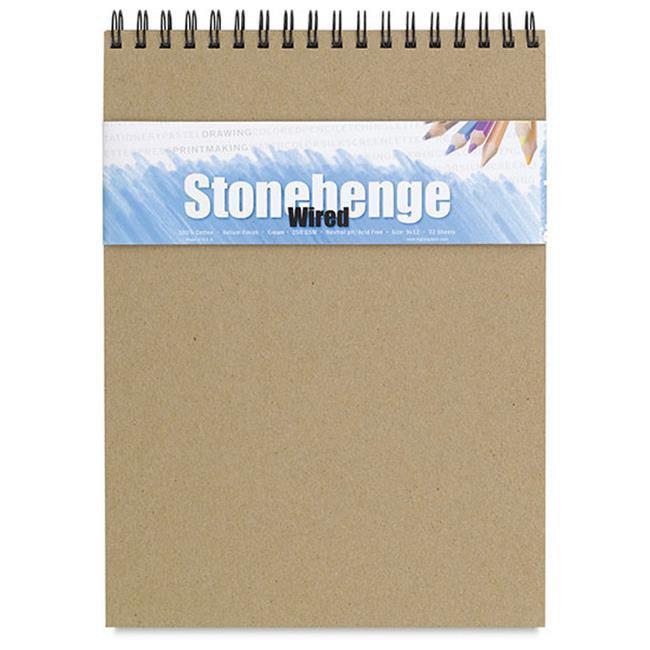 Stonehenge L21-SPR250CR912 9 inch x 12 inch 250Gsm Versatile Artist Journal - Cream