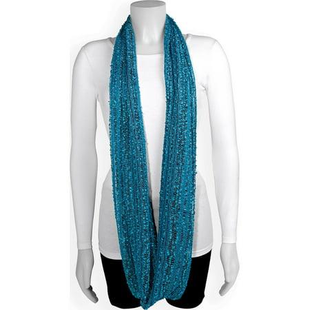 Aqua Blue Stripe Infinity Fashion Scarf (68x20mm) - image 2 of 2