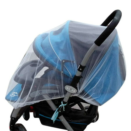 Elastic Band Baby Mosquito Insect Bug Net Covering for Strollers Carriers Cradles Pushchair - image 5 de 5