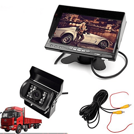 E Kylin Car 12V 24V Truck Parking System  7  Lcd Hd Monitor   Heavy Duty Camera  Ir Night Vision 10M   30Ft Video Extension Cable Auto Trigger