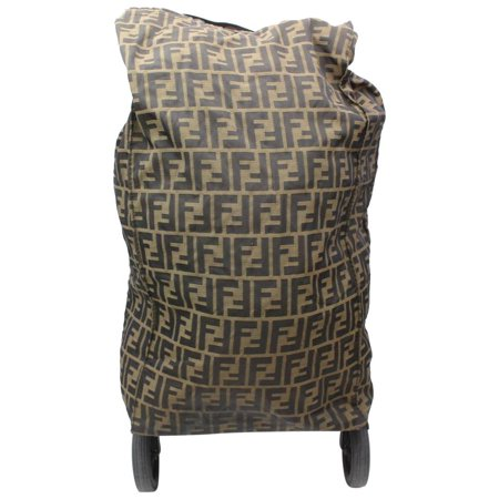 Tobacco Monogram Ff Zucca Rolling Luggage 869189 Brown Canvas Weekend/Travel