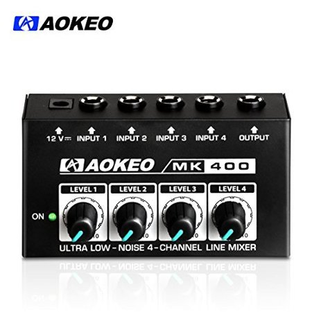 Dod Stereo Chorus (Aokeo Super Compact 4-Channel Stereo Headphone Amplifier with DC 12V Power Adapter for Sound Reinforcement, Studio, Stage,)