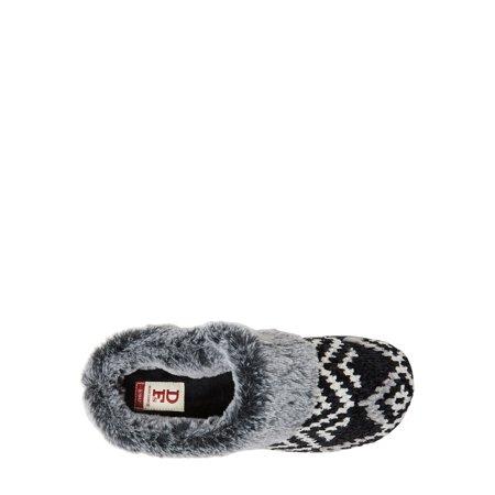 DF by Dearfoams Women's Chenille Clog Slippers