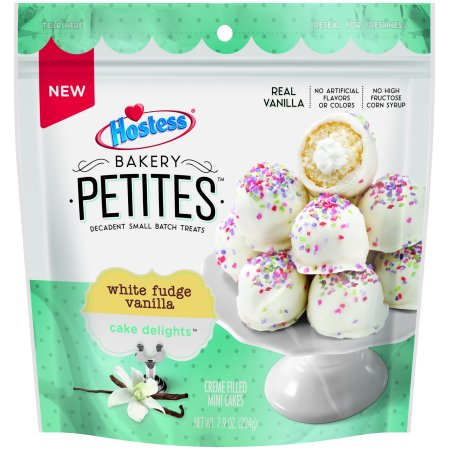 Hostess Bakery Petites Cake Delights White Fudge Vanilla Multi-Pack 7.90 ounces 13 count