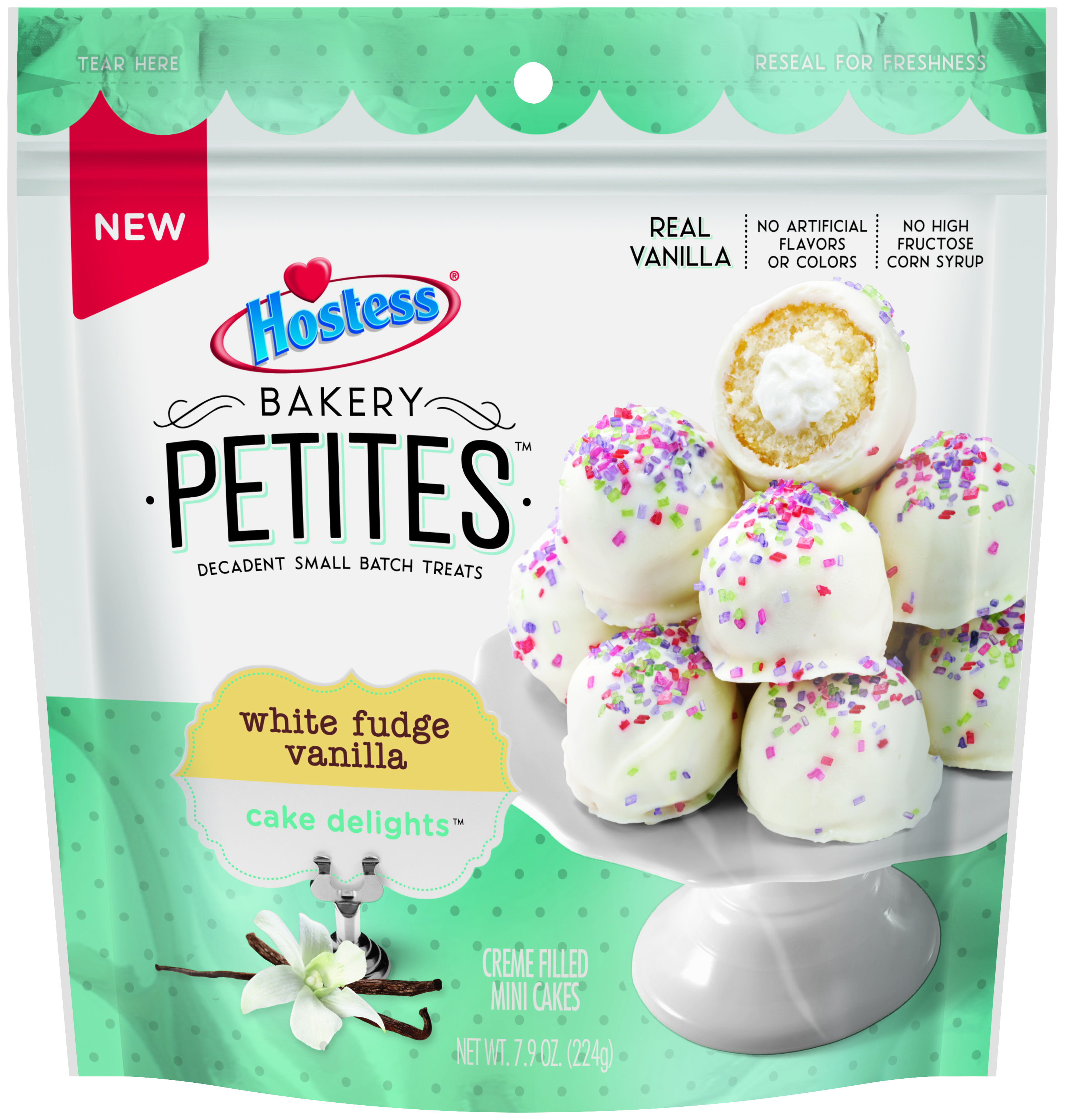 Hostess Bakery Petites White Fudge Vanilla Cake Delights, 7.9 oz