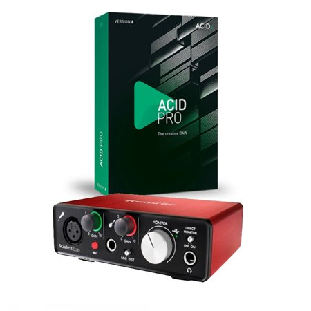 Focusrite Scarlett Solo (2nd Gen) with Pro Tools First And Acid Pro 9 Download (Tech Tools Download)