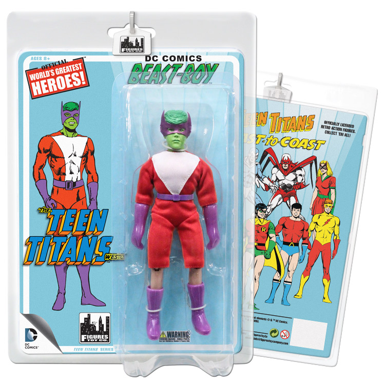 Teen Titans Retro 7 Inch Action Figures Series Two: Beast Boy (Green) by