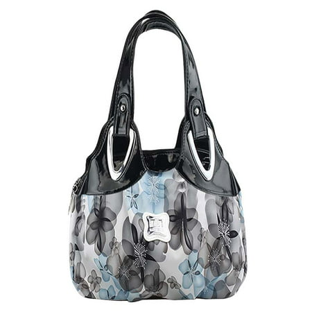 Womens handbags,Coofit colorful Rose Flower Printed Faux Leather Handbag Tote Shoulder Bag for Women Girl - Giraffe Animal Print Handbag