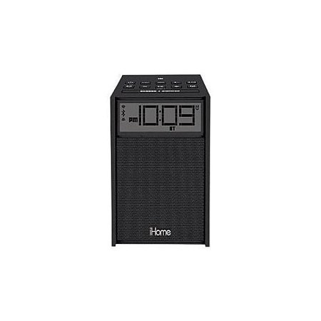 ihome clock radio fm mp3 player alarm bluetooth nfc usb aux input black ibn180bc. Black Bedroom Furniture Sets. Home Design Ideas