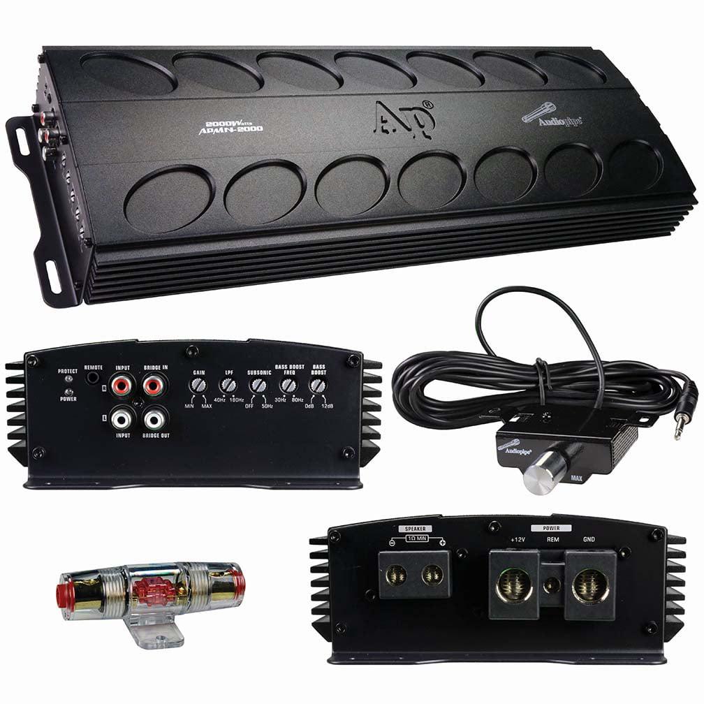 Audiopipe APMN2000 Mini Design Class D 2000w Amplifier