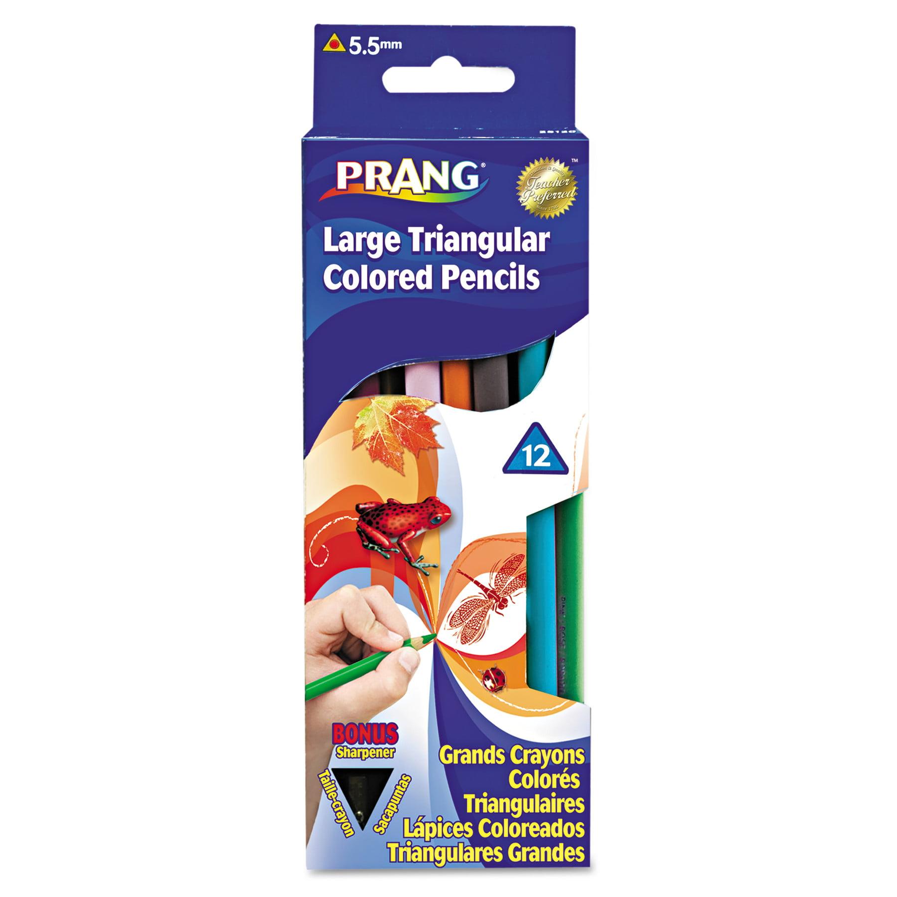 Prang Prang Triangular Colored Woodcase Pencil, 5.5 mm, Assorted, 12/Set