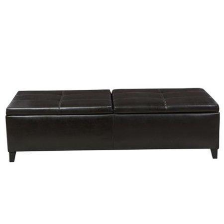 Enjoyable Christopher Knight Home Alfred Faux Leather Large Storage Ottoman Bench By Brown Dailytribune Chair Design For Home Dailytribuneorg