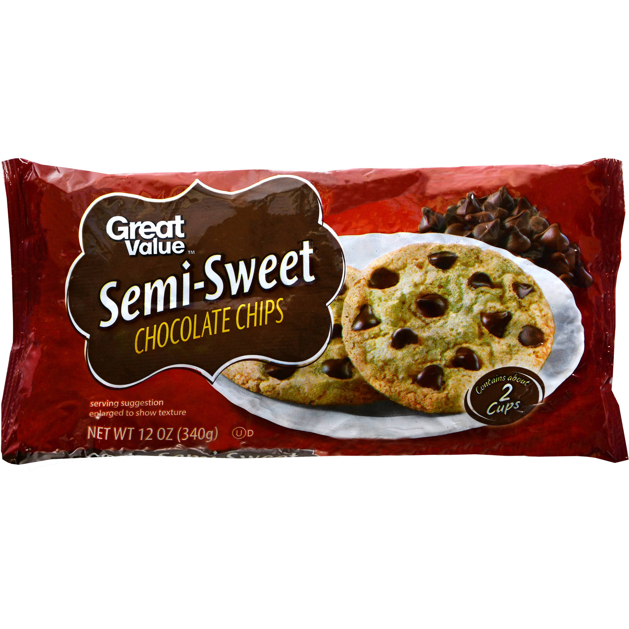 Great Value Semi-Sweet Chocolate Chips, 12 oz
