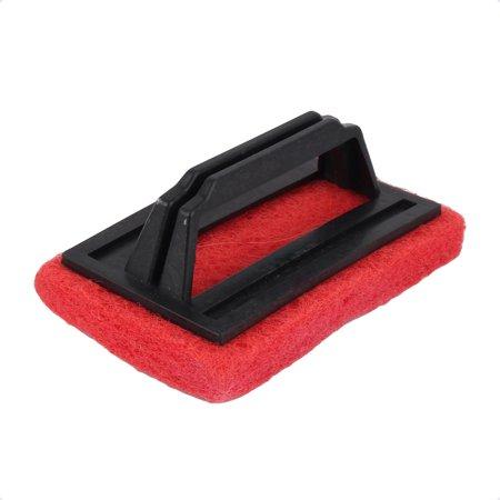 Household Kitchen Plastic Handle Sponge Bathtub Cleaning Brush Red Black - image 3 de 3