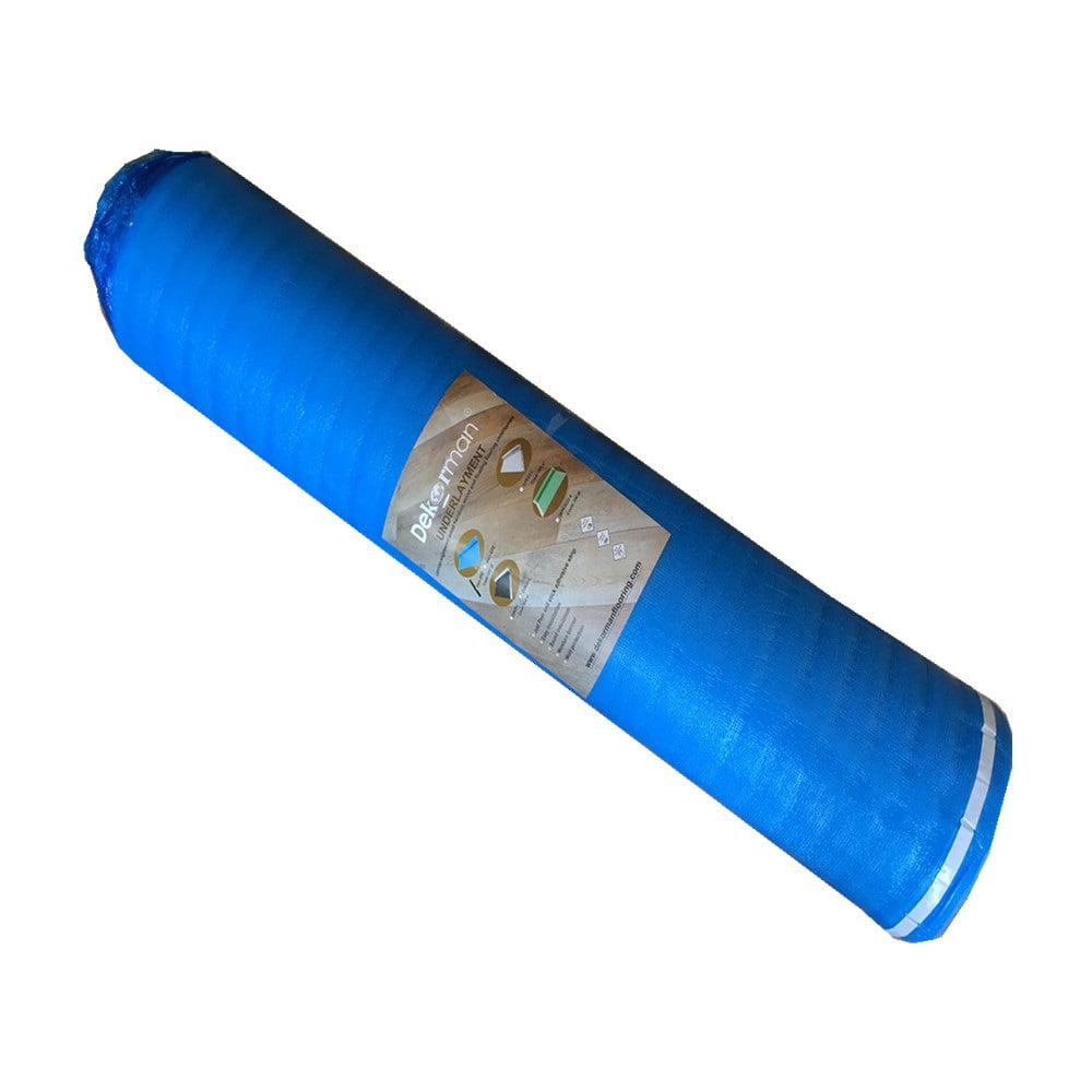 Dekorman 2mm Thick Blue Foam Underlayment(#2BF1) 2 mm T x 3.3 ft. W x 30.25 ft. L (100 sq. ft. / roll)
