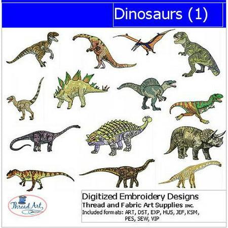 ThreadArt Machine Embroidery Designs Dinosaurs Version 1 CD