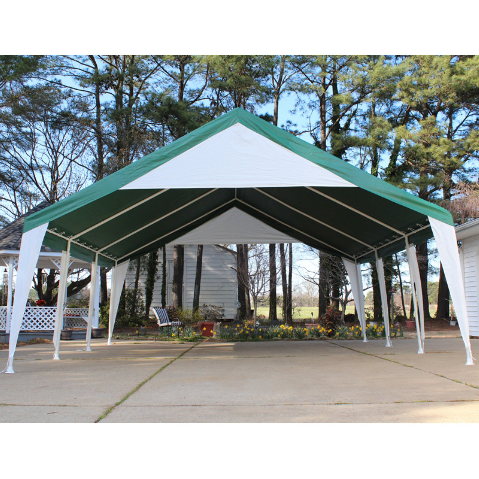 King Canopy 20 x 20 ft. Green and White Event Tent Image 2 of 3  sc 1 st  Walmart & King Canopy 20 x 20 ft. Green and White Event Tent - Walmart.com