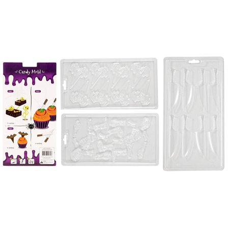 Halloween 3 Opening Theme (Halloween Chocolate Candy Molds - 3-Pack Decorating Molds for Halloween Parties, Holiday Theme Molds for Chocolate, Gummy Candy, Jello, Assorted Designs Including Skull, Bat,)