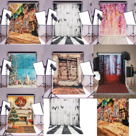 6 Styles 2*3FT Retro Old Wooden Wall Photography Vinyl Backdrop Background Photo Video Studio Props