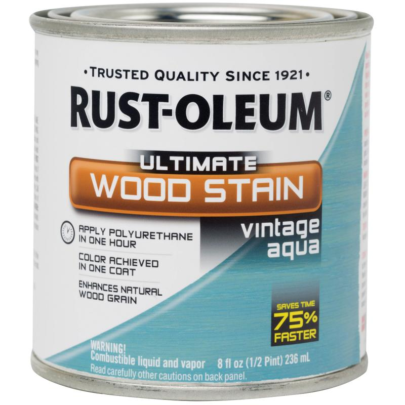 Ultimate Wood Stain 8oz Vintage Aqua Walmart Com