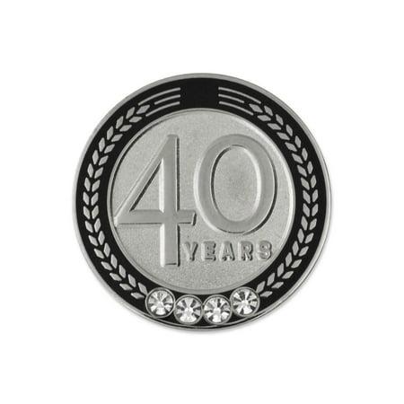 PinMart's 40 Years of Service Award Employee Recognition Gift Lapel Pin - - Employee Recognition Gifts