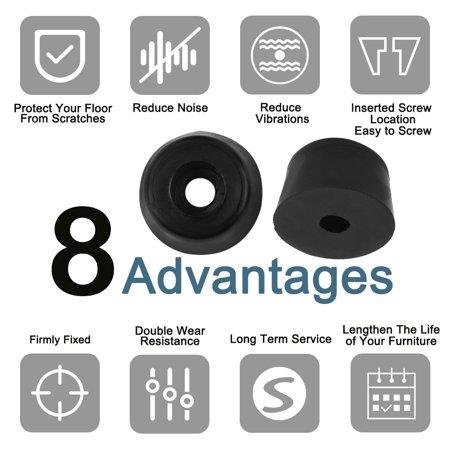 50pcs Rubber Feet Bumper Amplifier Speaker Cutting Board Leg Pads, D16x13xH10mm - image 5 de 7