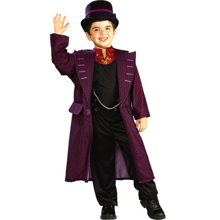 Childs Charlie And The Chocolate Factory Willy Wonka Costume Boys Large - Children's Willy Wonka Costume