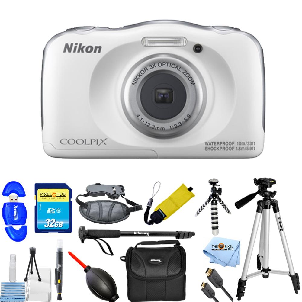UNASSIGNED Nikon COOLPIX W100 13.2MP Digital Camera (Whit...