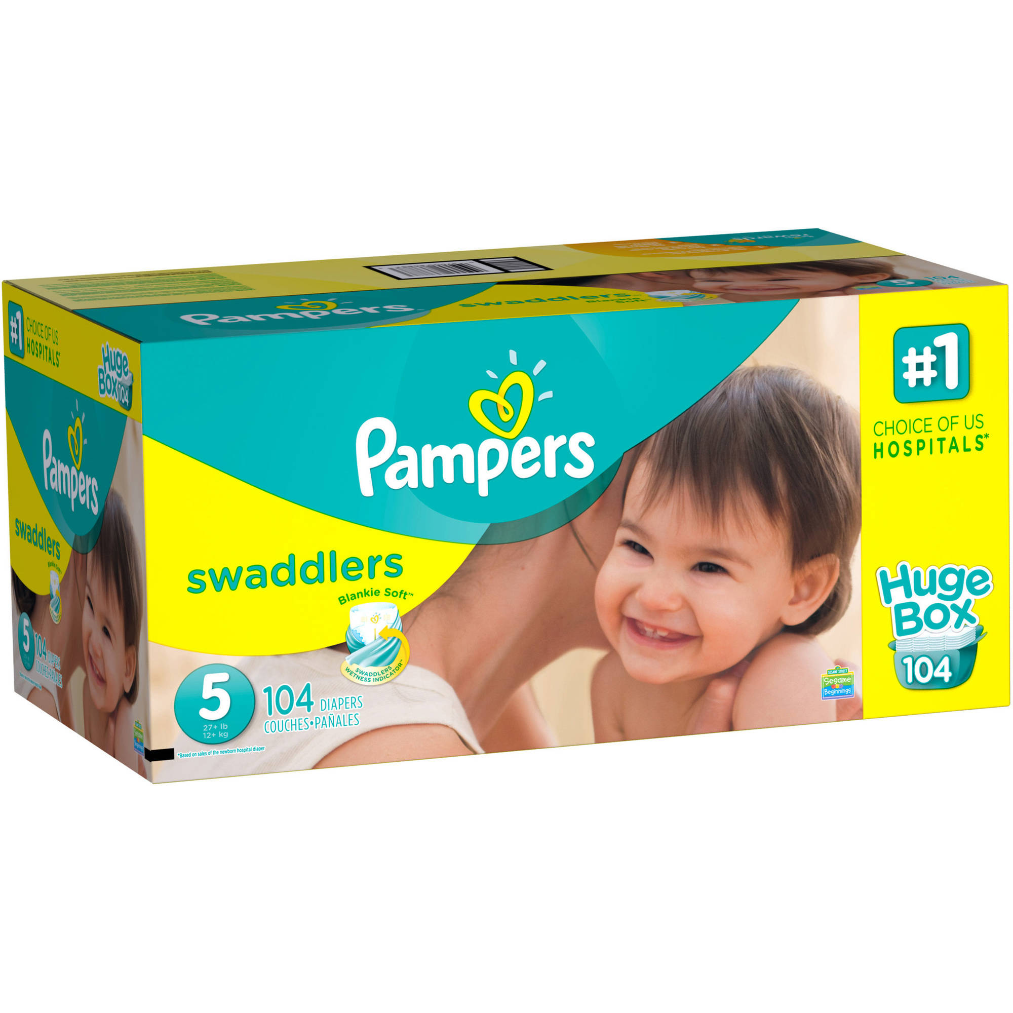 Pampers Swaddlers Diapers, Size 5 (Choose Diaper Count)