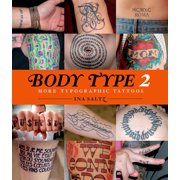Body Type 2 More Typographic Tattoos Book,  Assorted Fantasy Art by Abrams